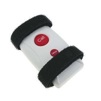 Pulsador emisor transmisor para sistema de llamada inalámbrico PrimeMatik, con cinta 200m 2 teclas