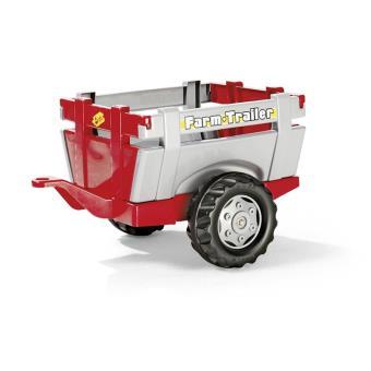 Rolly Toys 122097 Remolque rollyFarm, rojo/plateado