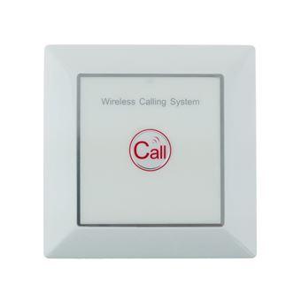 Pulsador emisor transmisor para sistema de llamada inalámbrico PrimeMatik, de pared 500m 1 tecla