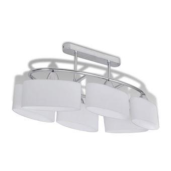 Lámpara de techo vidaXL, con seis focos elipsoidales de vidrio, E14
