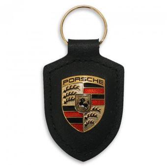 Llavero de coche o moto color negro modelo Porsche diseño llaves escudo logo