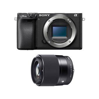 Sony A6400 Negro + Sigma 30mm F1.4 DC DN Contemporary - Sony