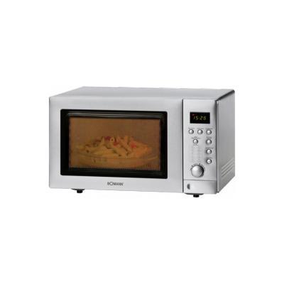 Microondas con Grill digital inox, horno conveccion 25 litros 800W/1350W Bomann