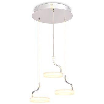 Lámpara colgante vidaXL, LED con 3 luces Blanco cálido