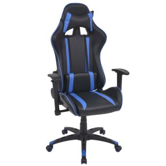 Escritorio Azul De Silla Racing Cuero Artificial Reclinable Vidaxl 0OkXnP8w