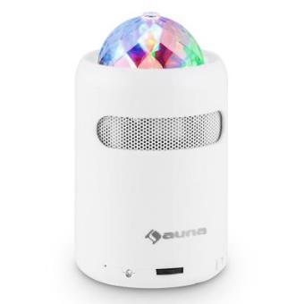 1a8666d576b Auna Discohead Altavoz LED con Bluetooth (minialtavoz portátil sin cables