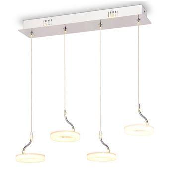 Lámpara colgante vidaXL, LED con 4 luces Blanco cálido