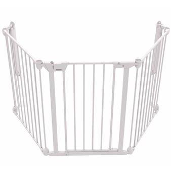 Puerta de seguridad Noma, de 3 paneles Modular metal Blanco 94054