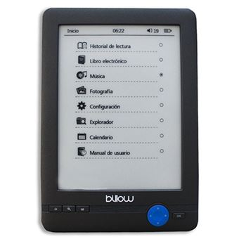 "E-Book Billow E-Ink 6"""" Touch 4Gb Gris"