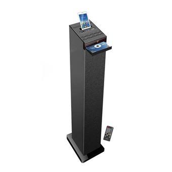 Inovalley HP32CD - Torre de sonido Bluetooth, reproductor de CD, USB - Negro