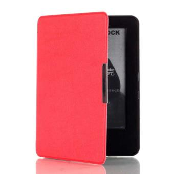 Funda Libro con Tapa Rigida Para Amazon new Kindle 6'' 2015 Piel Roja Iman Case
