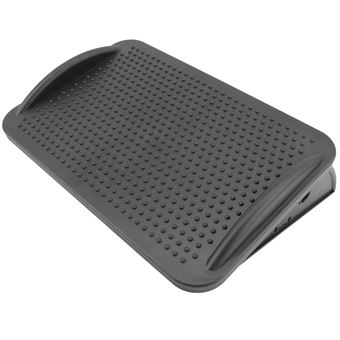 Reposapiés con plataforma ajustable de plástico PrimeMatik, negro 424 x 283 mm