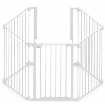 Puerta de seguridad Noma, de 5 paneles Modular metal Blanco 94047