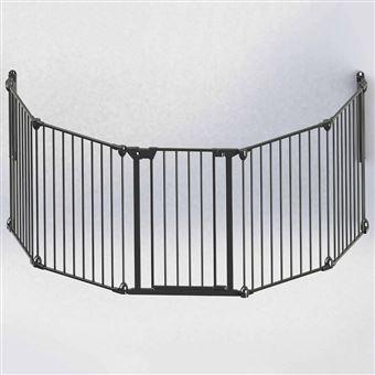 Puerta de seguridad Noma, de 5 paneles Modular metal Negro 94238
