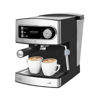 Cafetera express Cecotec para espresso y cappuccino, Power Espresso 20