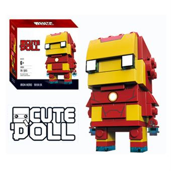 Figura Decool CuteDool Mini 9cm Puzzle Mega Bloks Marvel, iron Man