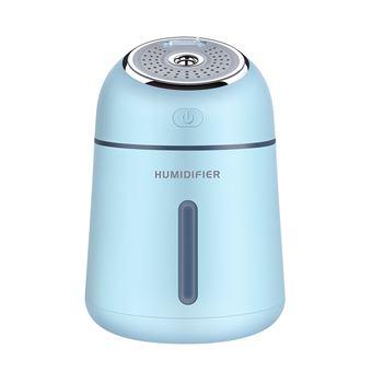 Ventilador humidificador USB multifuncional 3 en 1 con protección sin agua y luz nocturna - Azul cielo