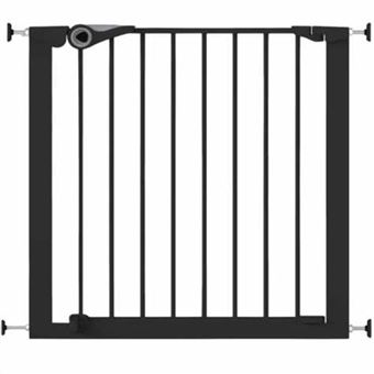 Puerta de seguridad Noma, Easy Pressure Fit 75-82 cm metal Negra 94313