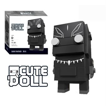 Figura Decool CuteDool Mini 9cm Puzzle Mega Bloks Marvel, Black panther