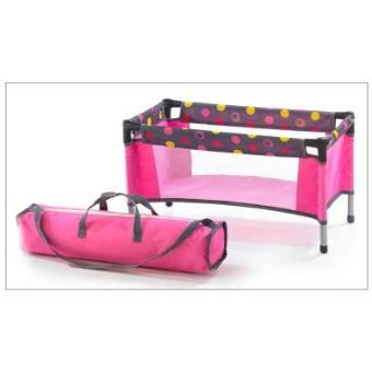 Bayer Chic 2000 652 24 Cuna de viaje para muñecas, funny pink