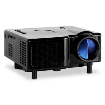 Klarstein Mini Proyector LED VGA AV negro