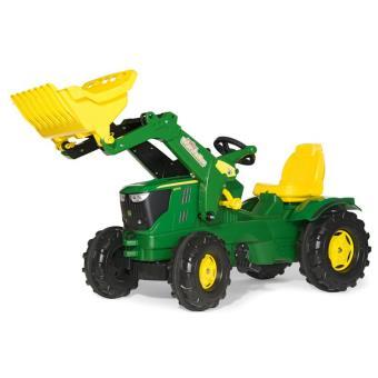 Rolly Toys 611096 Rolly Farmtrac - Tractor de pedales John Deere 6210 con pala frontal