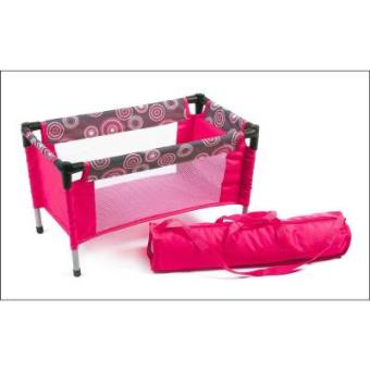 Bayer Chic 2000 652 87 Cuna de viaje para muñecas, hot pink pearls