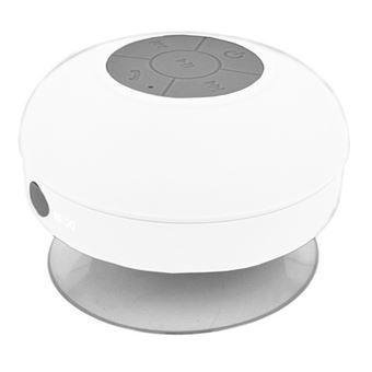 Mini Altavoz Impermeable Inalambrico Bluetooth BT Portatil Manos Libres Blanco