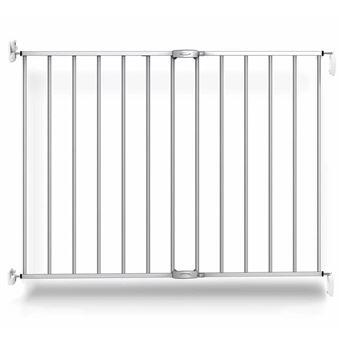 Puerta de seguridad Noma, extensible 62-102 cm metal plateada 94245