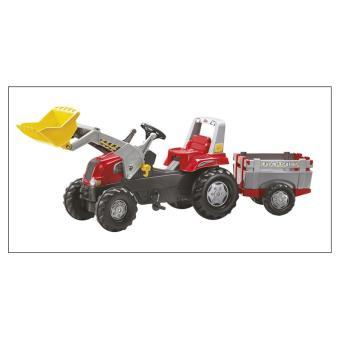Rolly Toys 811397 Rolly Junior RT - Tractor de pedales con pala frontal y remolque Farm Trailer