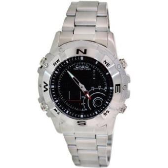 09ad7a967252 CASIO 19702 AMW-705D-1AV - Reloj Caballero cuarzo brazalete metálico dial  negro - Reloj de cuarzo - Los mejores precios