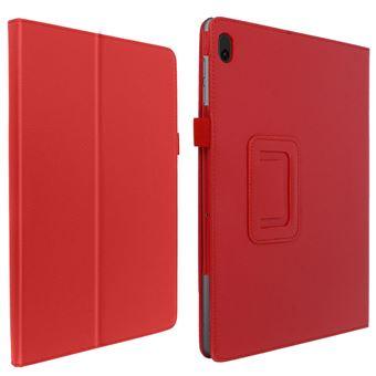 Funda Lenovo Tab E10 10.1 F. Soporte Soft-Touch Rojo