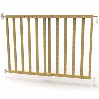 Puerta de seguridad Noma, extensible 63,5-106 cm madera 93729