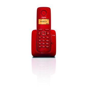 Teléfono fijo inalámbrico Siemens Gigaset A120 rojo