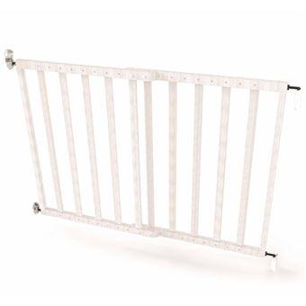 Puerta de seguridad Noma, extensible 63,5-106 cm madera Blanca 94153