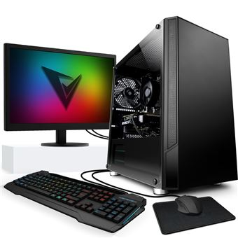 Vibox IV-8 PC Gaming con un juego gratuito - Windows 10 - Pack Monitor - WiFi - Quad Core Ryzen Procesador - Nvidia RTX 2060 6Gb Tarjeta grafica - 16Gb RAM - 240Gb SSD - 1Tb Disco duro
