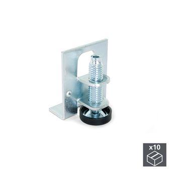Emuca Nivelador para mueble, regulación interior, M10, altura 46 mm, Acero y plástico, 10 ud.