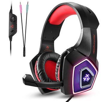 Auriculares Gaming Hunterspider V1 para PS4 Xbox One PC Rojo