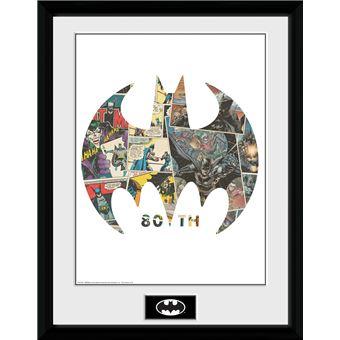 Fotografía Enmarcada Batman Comic Symbol