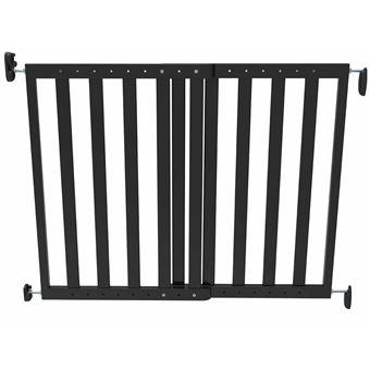 Puerta de seguridad Noma, extensible 63,5-106 cm madera Negra 93743