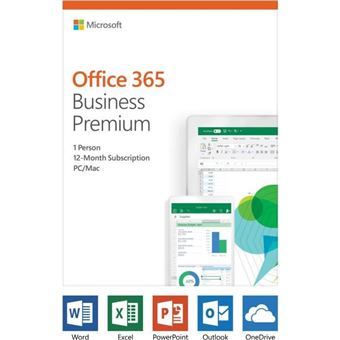 Microsoft Office 365 Business Premium - 1 usuario - 5 PC o Mac + 5 tabletas + 5 teléfonos inteligentes - 1 año