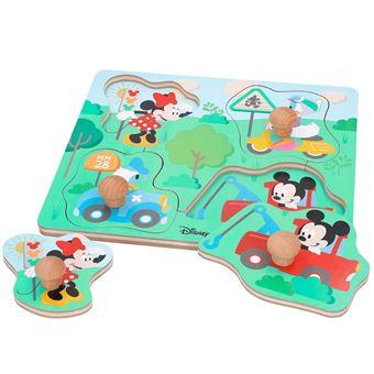 Puzle madera botones Mickey Disney baby by WOOMAX