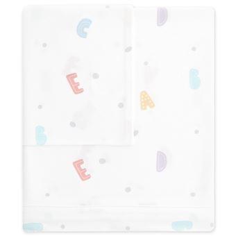 Tríptico sábanas minicuna Pekebaby (50 x 80 cm) Penguin Blanco algodón