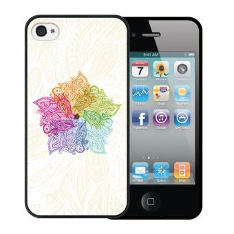 3d1643df309 Funda iPhone 4 iPhone 4S Silicona Gel Flexible WoowCase Mándala Colorida -  Negro - Fundas y carcasas para teléfono móvil - Los mejores precios | Fnac