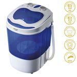 Mini Lavadora Centrifugadora Portátil Adler AD8051, 3Kg lavado ropa, 1Kg Centrifugado