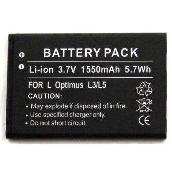 Batería compatible con LG C660 Pro, E400, E405, E610, E730, E730 Victor, E739, Electronics C660 Pro, Enlighten, Gelato, LS855, Marquee, MS840, Optimus Black, Optimus II, Optimus L3, Optimus L3 Dual, Optimus L5, Optimus Net, Optimus Pro, Optimus Sol, ...