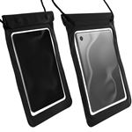 Funda Tablet Impermeable de Playa con Collar Negro