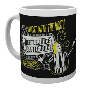 Taza de ceramica Beetlejuice Ghost With The Most