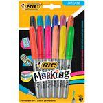 12 marcadores permanentes BIC Marking Intense