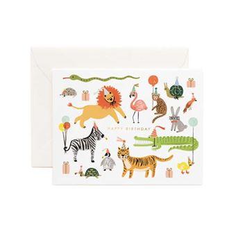 Postal Pepa Paper Happy Birthday Party animals